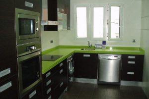 Reforma en Sabadell de Cocina con Marmol verde
