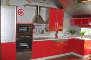 Reforma Cocina en Rojo en Sabadell